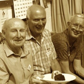 SingMe Wallasey gentlemen enjoying some cake at one of our SingMe Together sessions