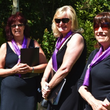 SingMe singers enjoying the glorious sunshine at the National Garden Scheme's charity fundraiser for Wirral Hospice St John's