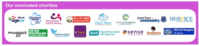 SingMe Merseyside's Nominated Charities