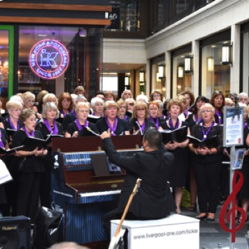 SingMe Merseyside performs at The Liverpool One Piano Festival 2016 - Tickle The Ivories