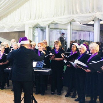 One of SingMe Merseyside's first Christmas themed performances in 2016 at Thornton Manor for the 2 day Wirral Bazaar Event which helped to raise £34,000 for Clatterbridge Cancer Charity